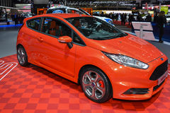 St di Ford Fiesta al salone dell'automobile di Ginevra immagine stock