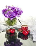 St Dia do ` s do Valentim Ainda vida com anêmonas Fotografia de Stock