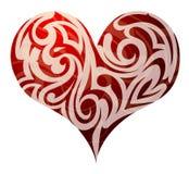 St. Dimensión de una variable del corazón de las tarjetas del día de San Valentín Fotos de archivo