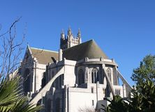 St. Dominic Catholic Church, San Francisco, 1. The original San Francisco location of St Dominic Catholic Church was on Broadway and Van ness, in 1863. This Stock Photo