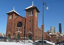 St. Dominic Church In Snow Stock Images