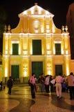 St. Dominic Kerk 's nachts, Macao. royalty-vrije stock afbeeldingen