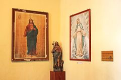 Exhibitions In St. Dominic`s Church, Macau, China. St. Dominic`s Church is a late 16th-century Baroque style church that serves within the Cathedral Parish of Royalty Free Stock Photo
