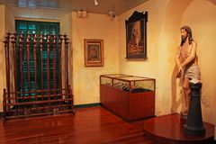Exhibitions In St. Dominic`s Church, Macau, China. St. Dominic`s Church is a late 16th-century Baroque style church that serves within the Cathedral Parish of Stock Image