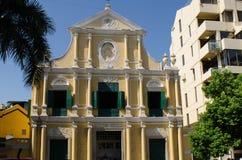 St Dominic s ChurchMacao, Kina: Royaltyfri Bild