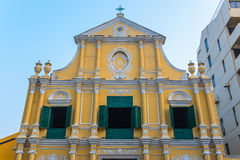 St Dominics Church at Senado Square Royalty Free Stock Photography