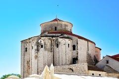 St Donato de la iglesia en Zadar, Croacia Foto de archivo libre de regalías