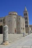 St Donatus教会在扎达尔 库存照片