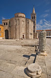 St. Donatus Church, Zadar, Croatia. A monumental round building from the 9th century in pre-Romanesque style Royalty Free Stock Photo