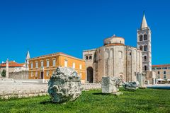 St. Donatus church at daylight in the old town, Zadar, Croatia Stock Image