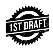 1St Draft rubber stamp. Grunge design with dust scratches. Effects can be easily removed for a clean, crisp look. Color is easily changed Royalty Free Stock Image