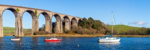 St Duitsers Viaduct Cornwall Royalty-vrije Stock Afbeeldingen