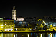 St. Dujam Cathedral in Split at night Stock Photo