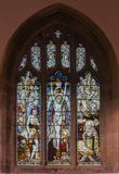 St Dunstan Church Stain Glass Window fotos de archivo
