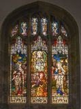 St Dunstan Church Stain Glass Window fotografía de archivo libre de regalías