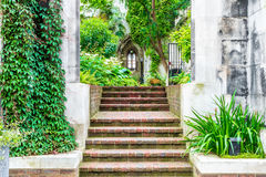 St. Dunstan-in-the-East. A church was largely destroyed in the Second World War and the ruins are now a public garden in London Stock Photography