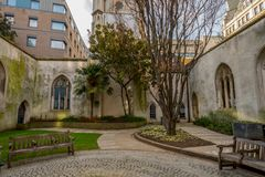 St. Dunstan in the East, London. St. Dunstan in the east in London Royalty Free Stock Images