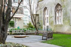 St. Dunstan in the East, London. St. Dunstan in the east in London Stock Photo