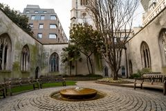 St. Dunstan in the East, London. St. Dunstan in the east in London Stock Images