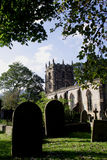 St Edmund Chuch Castleton. The village lies at the western end of the Hope Valley in Derbyshire England, on the Peakshole Water, a tiny tributary of the River Royalty Free Stock Image