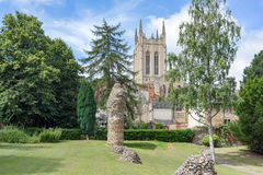 St Edmundsbury Cathedral and the Abbey Gardens Royalty Free Stock Photography