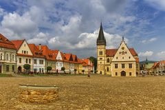 Free St. Egidius Basilica And City Hall In Old City Of Bardejov, Slovakia Royalty Free Stock Images - 167052189