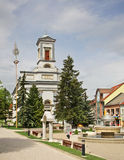 St. Egidius Square in Poprad.  Slovakia Royalty Free Stock Photo