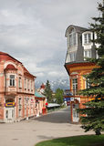 St. Egidius Square in Poprad.  Slovakia Royalty Free Stock Photos