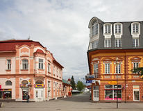 St. Egidius Square in Poprad.  Slovakia Stock Photography