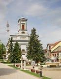 St Egidius Square in Poprad slowakije royalty-vrije stock foto