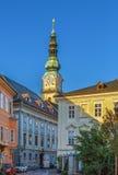 St Egyd farny kościół, Klagenfurt, Austria Fotografia Royalty Free
