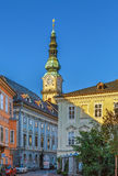 St Egyd parochiekerk, Klagenfurt, Oostenrijk Royalty-vrije Stock Fotografie