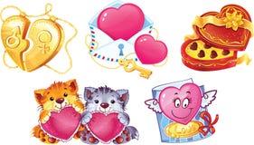 St. El día de tarjeta del día de San Valentín Stock de ilustración