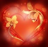 St. El día de tarjeta del día de San Valentín, corazón Foto de archivo