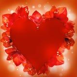 St. El día de tarjeta del día de San Valentín, corazón Fotografía de archivo