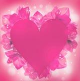 St. El día de tarjeta del día de San Valentín, corazón Imagenes de archivo