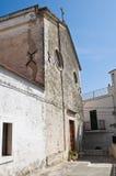 St. Elia profeta Cathedral. Peschici. Puglia. Ital Royalty Free Stock Image