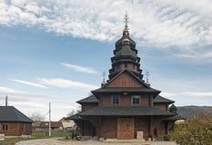 St Elias Wooden Church in Yaremche, de Oekraïne 2 Stock Afbeelding
