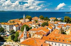St. Elijah and St. Francis Churches in Zadar, Croatia royalty free stock image