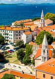St. Elijah and St. Francis Churches in Zadar, Croatia royalty free stock images
