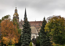 St. Elisabeth Cathedral in Kosice. Slovakia stock image