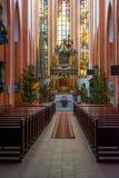 St. Elisabeth het binnenland van de Kerk stock fotografie