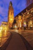 St Elisabeth ` s Kerk in Wroclaw stock foto's