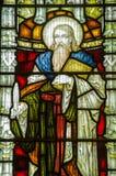 St Elisha Stained Glass Window. Victorian stained glass window of Saint Elisha Royalty Free Stock Photos