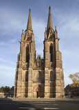 St. Elizabeth church in Marburg, Germany. Front view of the St. Elizabeth Church in Marburg, Germany Stock Photography