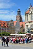 St. Elizabeth's Church in Wroclaw - Poland. Royalty Free Stock Images