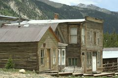 St. Elmo Ghost Town. Abandoned buildings in Saint Elmo Ghost town. St. Elmo is Colorado's best-preserved ghost town and a popular tourist attraction royalty free stock photo