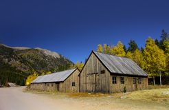 St Elmo Ghost town in Colorado royalty free stock photography