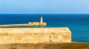 St. Elmo Lighthouse near Valletta Royalty Free Stock Photography