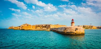 St. Elmo Lighthouse in Valletta Royalty Free Stock Photos